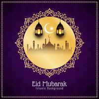 Abstrakter religiöser islamischer Eid Mubarak-Hintergrund