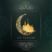 Abstrakt elegant Eid Mubarak dekorativ bakgrund vektor