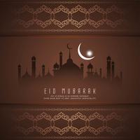 Abstrakt Eid Mubarak festival hälsning bakgrund vektor