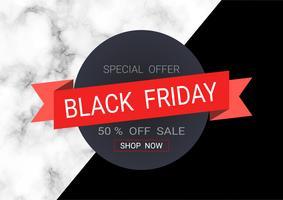 Svart fredags försäljning inskription design mall vektor
