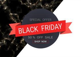 Svart fredags försäljning inskription design mall. vektor