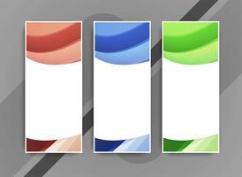 Abstrakt elegant färgstark bannersats