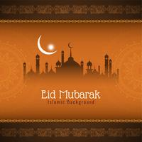 Abstrakt islamisk Eid Mubarak bakgrund vektor