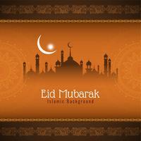Abstrakter islamischer Eid Mubarak-Hintergrund vektor
