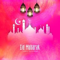 Abstrakter eleganter stilvoller Eid Mubarak-Hintergrund vektor