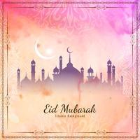 Abstrakt Eid Mubarak islamisk bakgrund vektor
