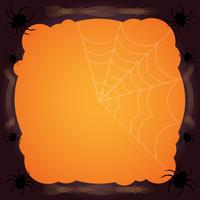 Spinnennetz Halloween Hintergrund vektor