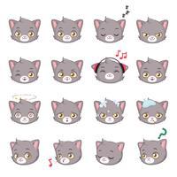 kitty head icon vektor