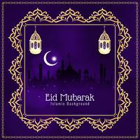 Abstrakter islamischer Hintergrund Eid Mubaraks vektor