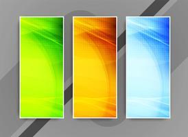 Abstrakt färgglada eleganta affärer banners uppsättning