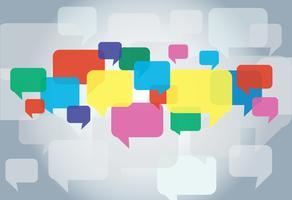 Chat-Box, Message-Box Kommunikationshintergrund vektor