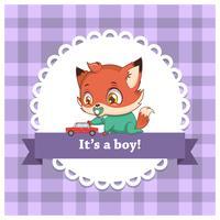 Barnkön avslöjar för en pojke vektor
