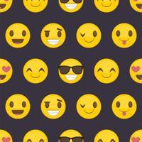 Seamless mönster bakgrund med positiva lyckliga smileys