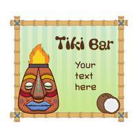 Leeres Menü für Tiki-Bar vektor