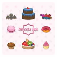 Sammlung von Süßigkeiten vektor