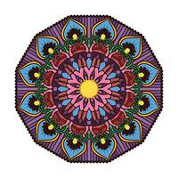 Härlig färgrik mandala 4