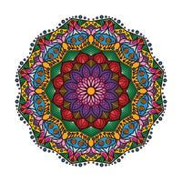 Härlig färgrik mandala 1