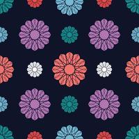 Nahtloser Hintergrund des Blumenmotivs