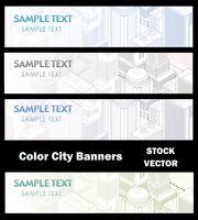 Olika färg av staden vektor