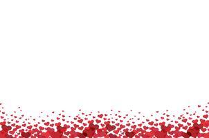 röd hjärta bakgrund vektor