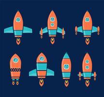 Raketenschiffe vektor