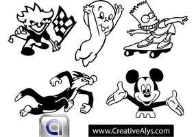 Cartoon Charaktere und Maskottchen vektor