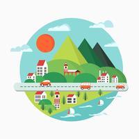 Städtische Landschaft vektor