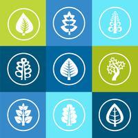 Träd ikoner vektor