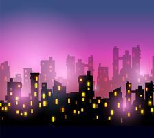 stads silhuett vektor