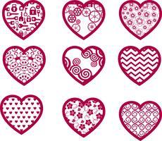 Alla hjärtans ikoner vektor