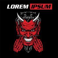 Luzifer, böse, satanische Dämonenhandzeichnung