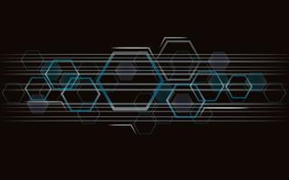 die Form des Hexagon Konzept Design abstrakt Technologie Hintergrund vektor