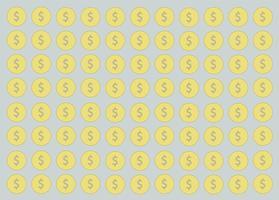 Münze, Geld Design und Raum Hintergrund vektor