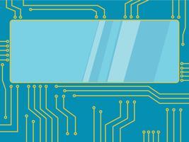 Mikrochip Linie Technologie Symbol abstrakten Hintergrund vektor