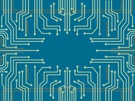 mikrochip linje teknik symbol abstrakt bakgrund