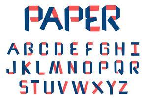 Pappersvikts alfabet vektor