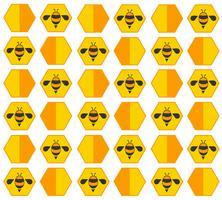 Bienenstock Pastell Cartoon Hintergrund