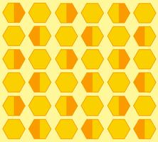 Bienenstock Hexagon Pastell Cartoon Hintergrund vektor