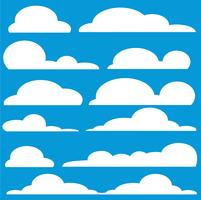 moln tecknad konst vektor