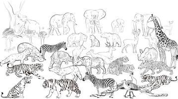 wilde Tiere Silhouette vektor