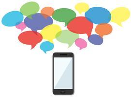 Smartphone-Benachrichtigungen und Hintergrund Vektor
