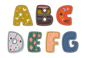 Vackert tryck på fetstil alfabet för barn del 1 vektor