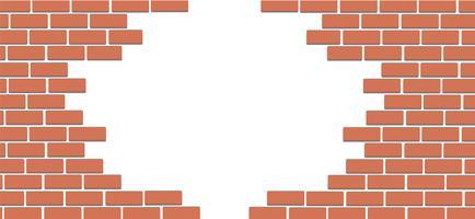 Wand des Ziegelstein- und Raumhintergrund-Kunstvektors vektor