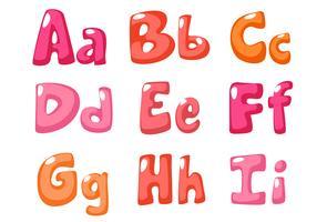 söt fet skrift i rosa färg för barn del 1 vektor