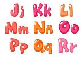 söt fet skrift i rosa färg för barn del 2 vektor