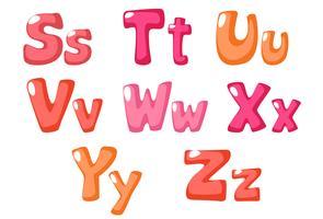 söt fet skrift i rosa färg för barn del 3 vektor