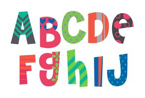 Designer Alphabete Teil 1 vektor