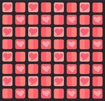 härlig pastellhjärtmönster bakgrund vektor