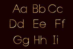 Goldene Mode Schriftart Teil 1