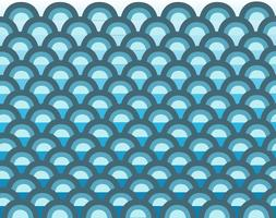 söt våg i havet tecknad bakgrund vektor